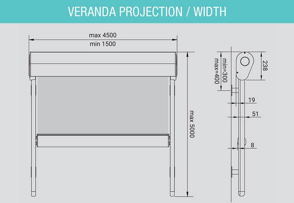 Tech-Dimensions-Projection-width External Skylight Blinds