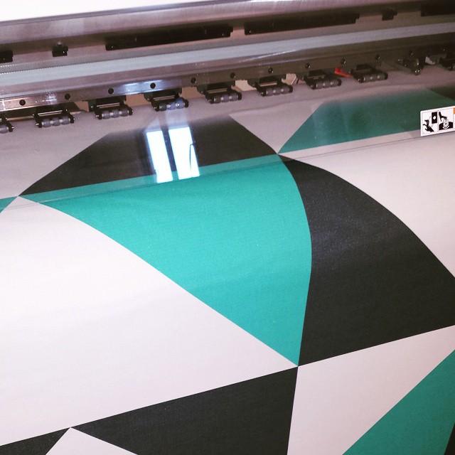 UV stable print on blinds for shop displays