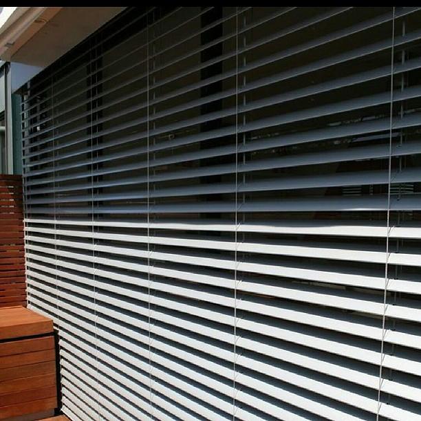 Example of external venetian blinds