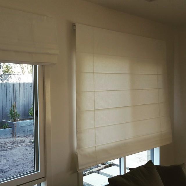Custom stylish roman blinds