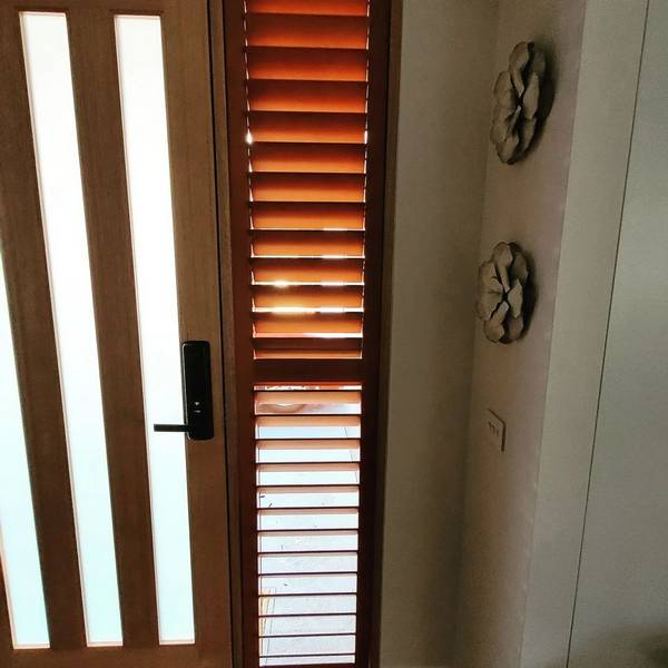 Simple and elegant shutters installed